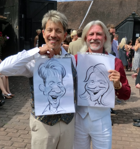 gay wedding caricatures