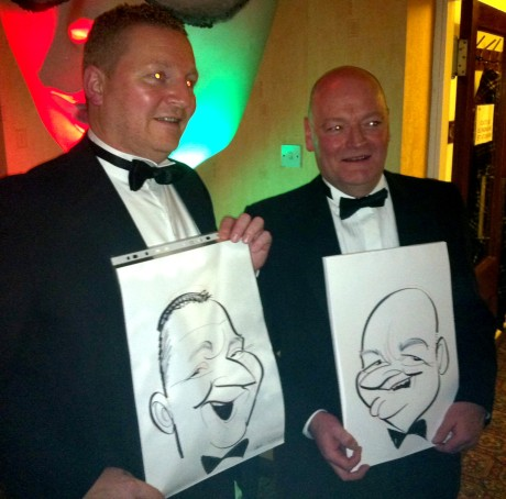 caricatured punters