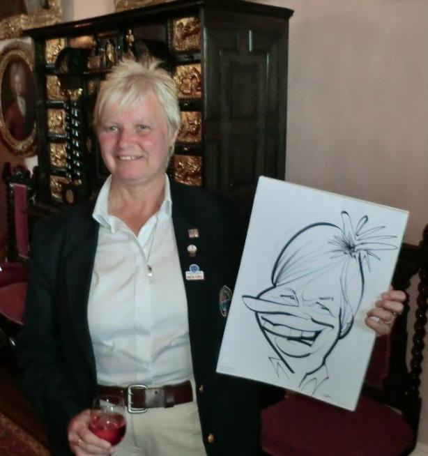 lady golfer caricature