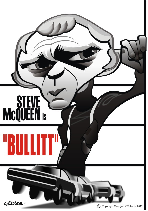 Bullitt caricature