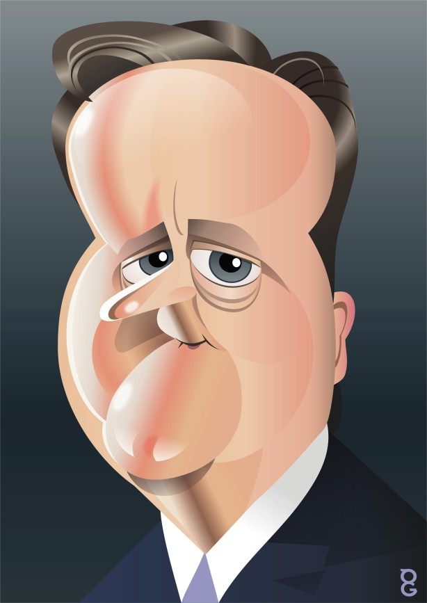 David Cameron caricature