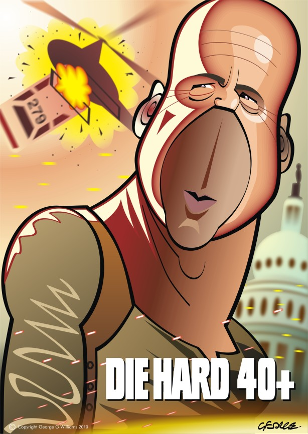 die hard 4 caricature