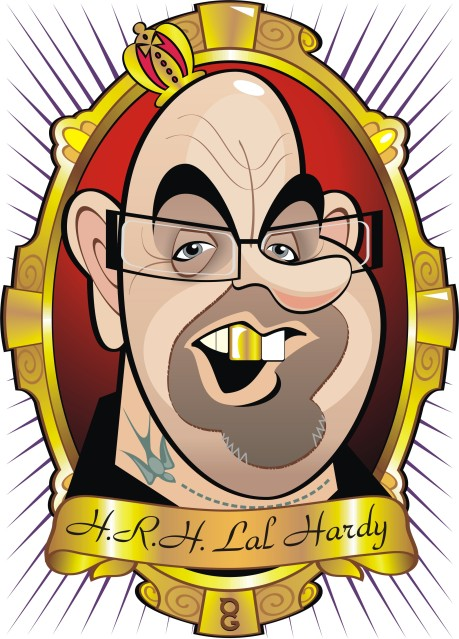 Lal Hardy caricature