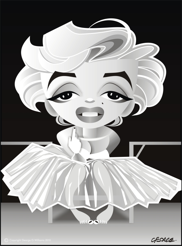 marylin monroe caricature