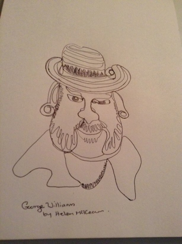 george caricature