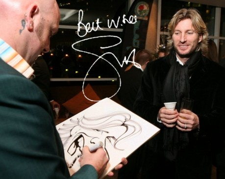 Robbie Savage caricature