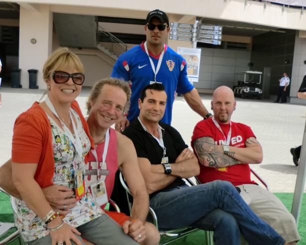 Sheba, Simon, Superman & Captain America with George