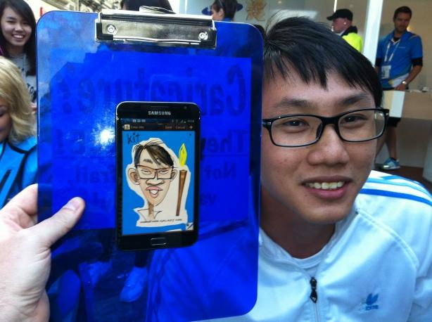 samsung caricatures