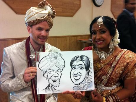 Hindu bride & groom