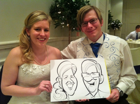 bride & groom caricature