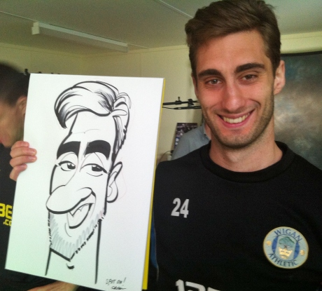 Wigan Athletic caricatures
