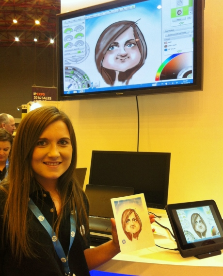 digital HP caricatures