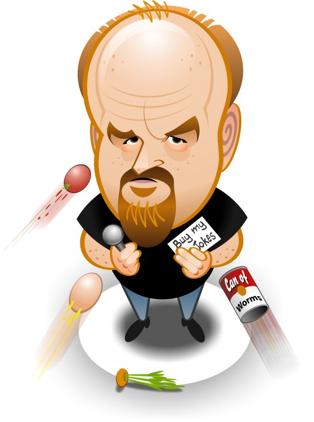 Louis CK caricature