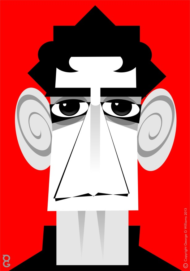 Lou Reed caricature