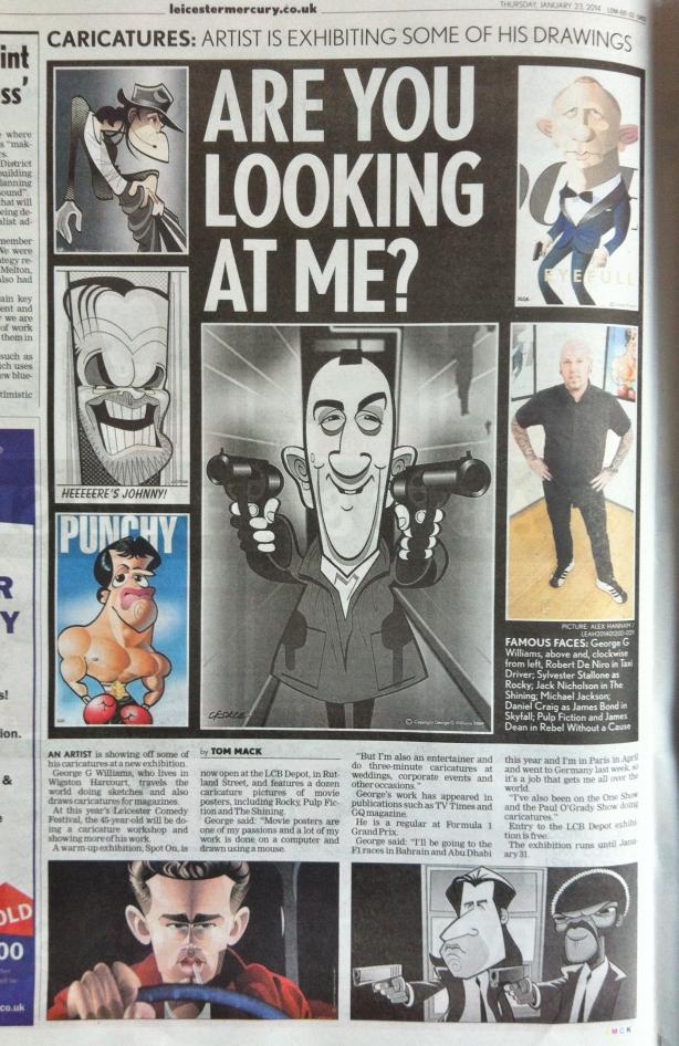 Leicester Mercury caricatures