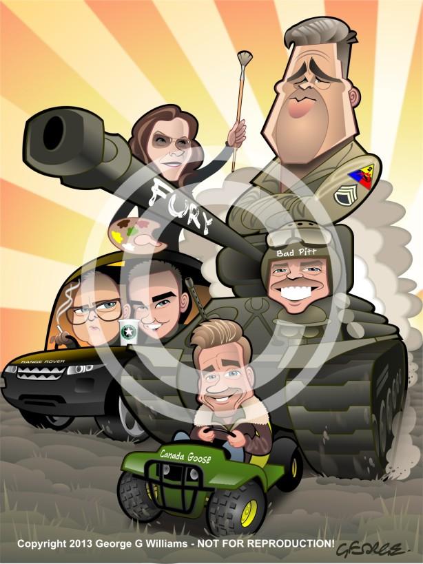 Brad Pitt Caricature
