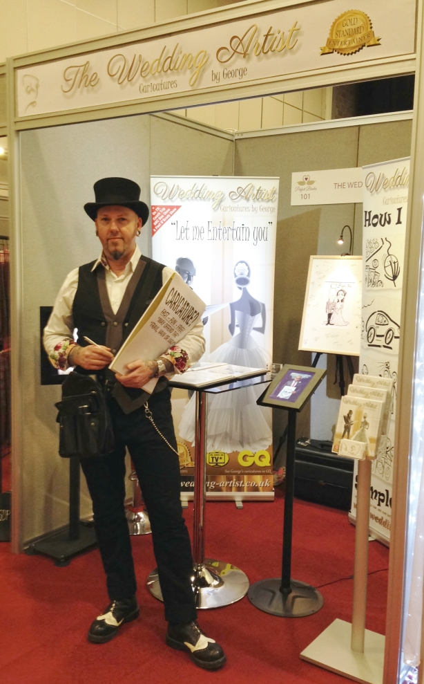 Wedding Caricaturist stand